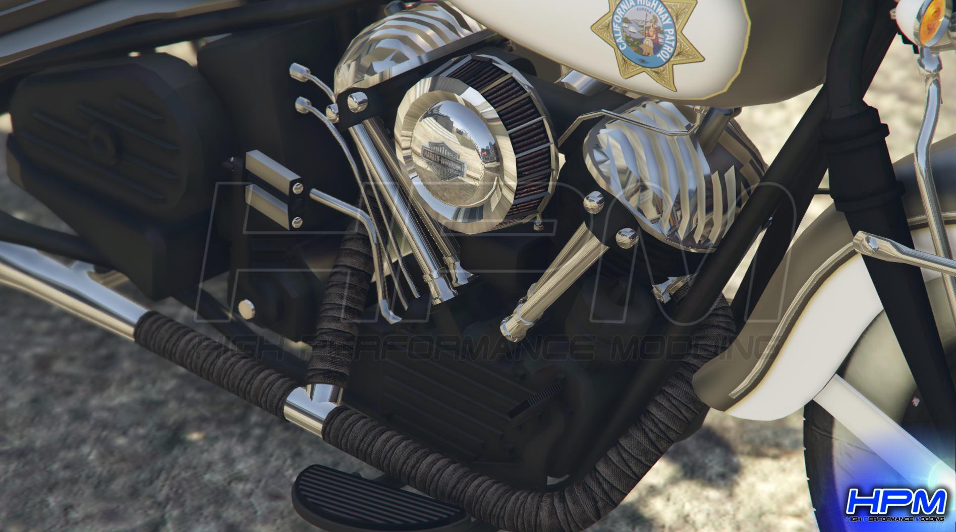 Harley Davidson Knucklehead 1947 Service Car - Police Version - GTA5